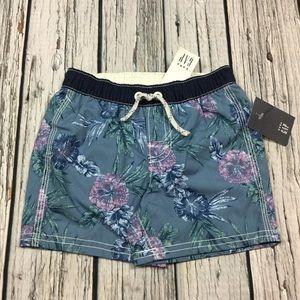 Gap Boys 12-18 18-24 Months Floral Swim Shorts